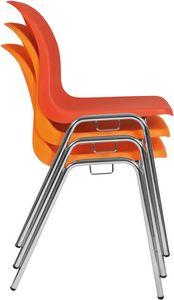 Vera, Chaise empilable, encombrante, avec coque en polypropylène