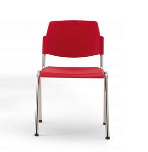 Wampa, Chaise ignifuge en plastique et en métal pour les salles de réunion