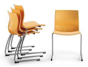 WEBBY 336, Chaise avec luge renversée base enveloppe de nylon