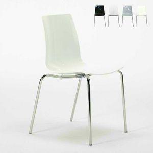 Chaises de bar pieds de cuisine empilables en acier LOLLIPOP Grand Soleil - S3343N, Chaise économique en polycarbonate empilable