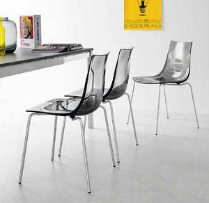 Spot, Chaise avec coque en polycarbonate