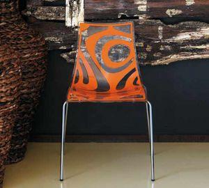 Webra, Chaise en métal, avec coque en polycarbonate