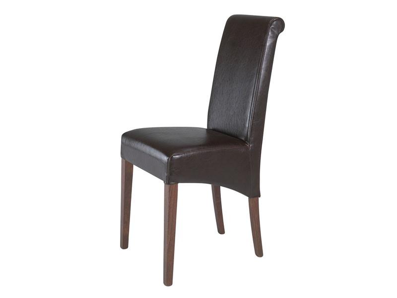 0323, Chaise entièrement tapissée pour le restaurant, avec grand dossier