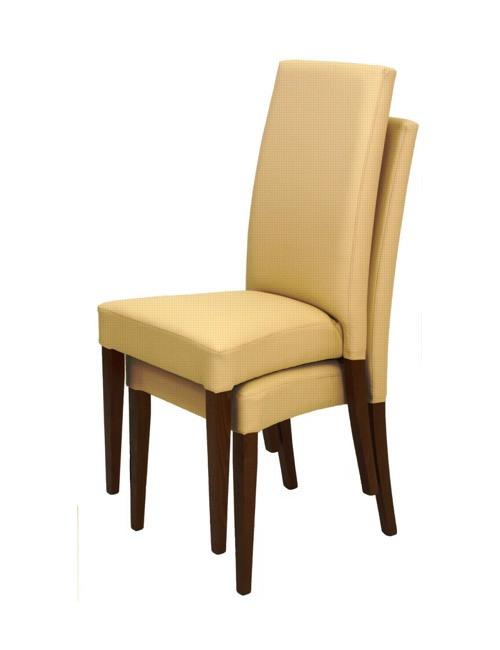 300 empilable, Chaise moderne avec structure en bois, pour la salle d'attente