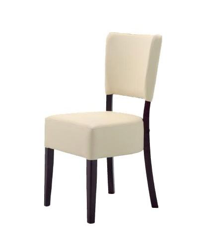 301, Chaise minimaliste en bois, rembourré, pour les restaurants