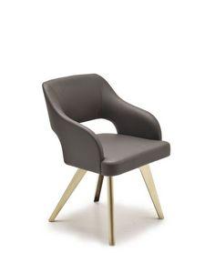 Adria, Salon moderne avec sièges, pieds de fer rembourrés