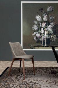 AGATA, Chaise avec structure en bois ou en métal