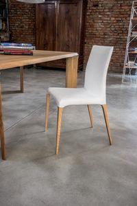 ARAGONA, Chaise moderne avec le corps rembourré, pour la cuisine et la salle à manger