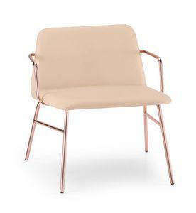 ART. 0035-MET-TU-CB BARDOT, Chaise longue rembourrée avec accoudoirs