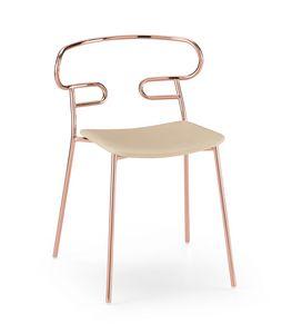 ART. 0047-MET-IM GENOA, Chaise empilable avec structure en métal
