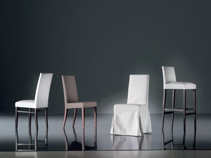 ART. 139 TEDDY , Chaise en hêtre amovible rembourré siège, salon