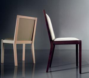 ART. 191 LUNA, Chaise rembourrée confortable, en hêtre