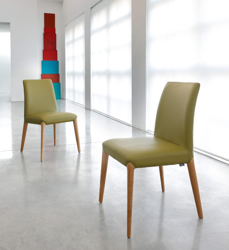 ART. 253 INES, Chaise en bois, rembourrés en cuir ou tissu
