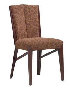 C30, Chaise en bois, assise rembourrée et à l'arrière, pour le contrat et l'usage domestique