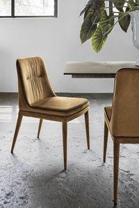 DALLAS SE616, Chaise avec rembourrage bicolore