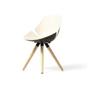 Eon structure en bois, Chaise avec coque rembourrée et coloré, pour le bureau et la maison