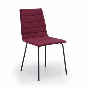 Firenze-M4, Chaise en métal rembourrée
