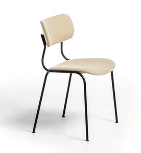 Kiyumi Fabric, Chaise empilable avec assise rembourrée