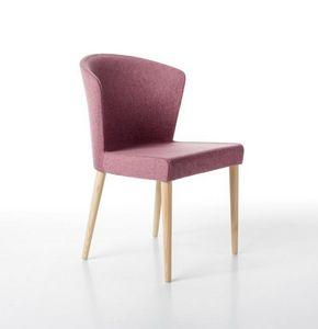 Kontè 4 jambes, Chaise élégante rembourrée de mousse de polyuréthane