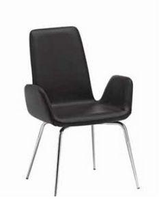 Luce-A, Chaise farcie avec base en métal