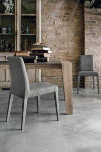 LUCERNA SE514, Chaise moderne en bois massif avec coque en douceur