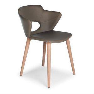 Marala W, Chaise en bois avec corps rembourré