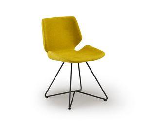 Meg-X, Chaise avec base en métal