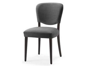 Mia-S, Chaise avec assise et dossier rembourrés avec mousse ignifuge
