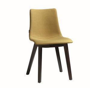 Natural Zebra Pop, Chaise avec siège rembourré, pieds en bois