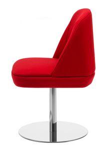 Noemi 1, Chaise avec base ronde en métal