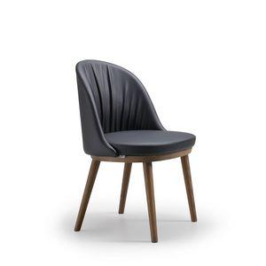 Rose, Chaise moderne, avec dossier arrondi