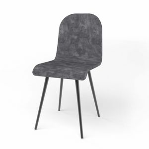 Sally, Chaise rembourrée, avec assise dans différentes variantes