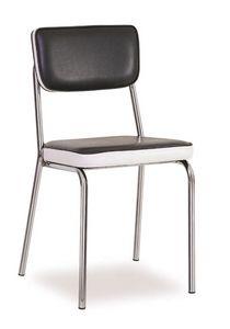 SE 1957, Chaise en métal rembourré, recouvert de faux cuir