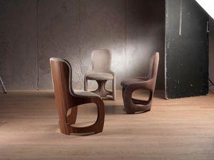 SE49 Venere chaise, Soft Chair avec dossier en placage noyer Canaletto