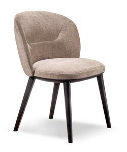 Shiba Chaise, Chaise rembourrée avec dossier enveloppant