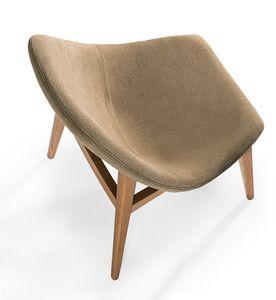 Simo, Chaise rembourrée avec des formes arrondies