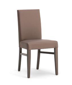 SLOT, Chaise élégante rembourrée pour salle à manger