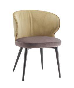 STOCCOLMA S, Chaise avec dossier enveloppant