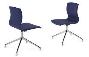 WEBWOOD 368Z, Chaise moderne avec base chromée