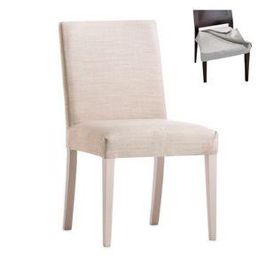 Zenith 01616, Chaise avec cadre en bois, assise et dossier rembourrés, revêtement en tissu amovible, pour le contrat et l'usage domestique