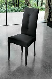 ZURIGO SE503, Chaise moderne avec un haut dossier rembourré