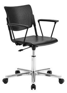LaMia, Chaise de bureau sur roulettes avec base chromée