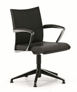 AVIA 4104, Chaise de bureau, base 5 étoiles avec les pieds, avec accoudoirs