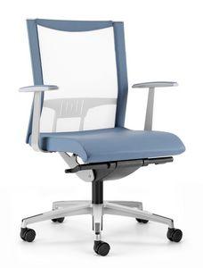 AVIANET 3602, Chaise avec dossier en maille élastique, pour le bureau