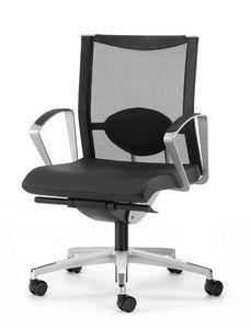 AVIANET 3604, Chaise avec 5 branches, avec soutien lombaire, pour le bureau