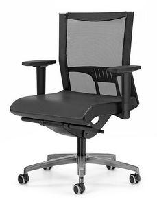 AVIANET 3606, Travailler chaise avec T accoudoirs en forme, pour le bureau
