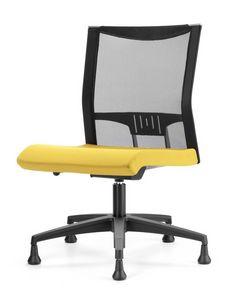 AVIANET 3650, Chaise avec pieds, avec résille, pour le bureau moderne