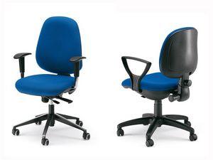 Dublino, Chaise ergonomique opérationnelle, coquille de contreplaqué intérieur