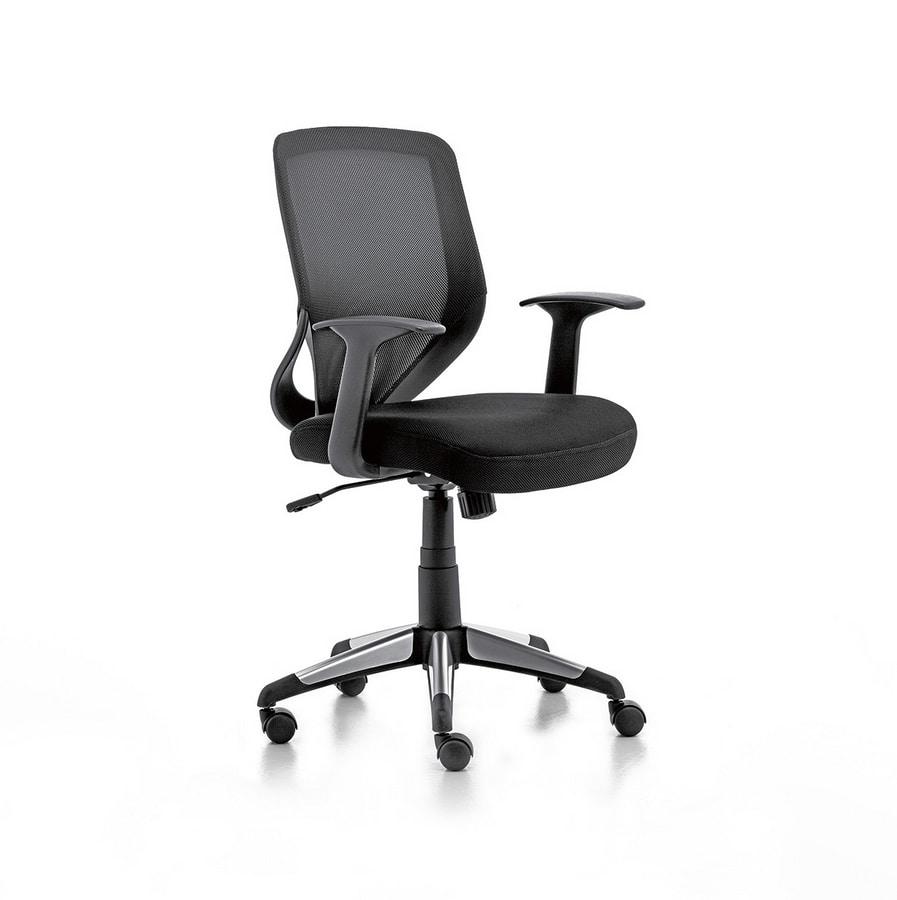 Eliot 01, Chaise fonctionnelle avec reprise nette, pour le bureau