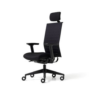 Fit up, Chaise rembourrée pour le bureau avec des roues, accoudoirs et appuie-tête